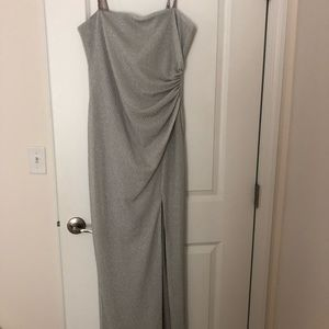 Silver Long dress Adriana Papel, never worn